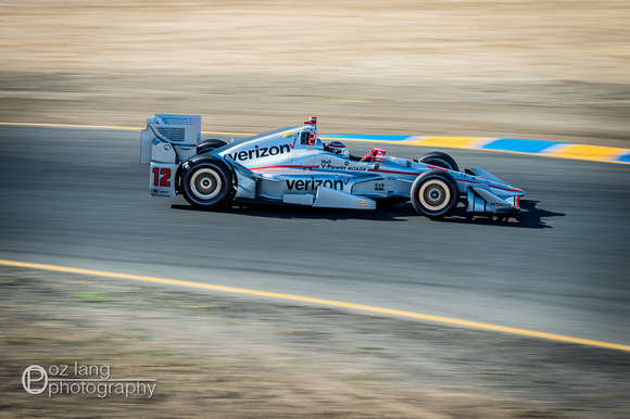 Will Power taking the turns